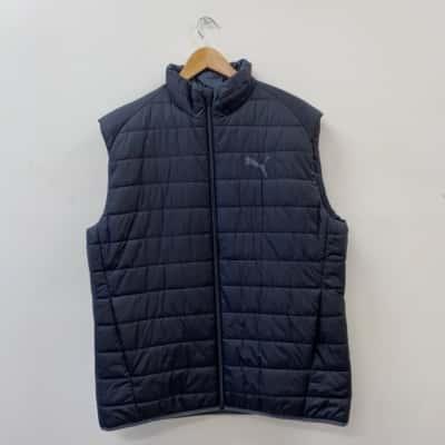 Puma Men's Size XL Black Padded Sleeveless Vest