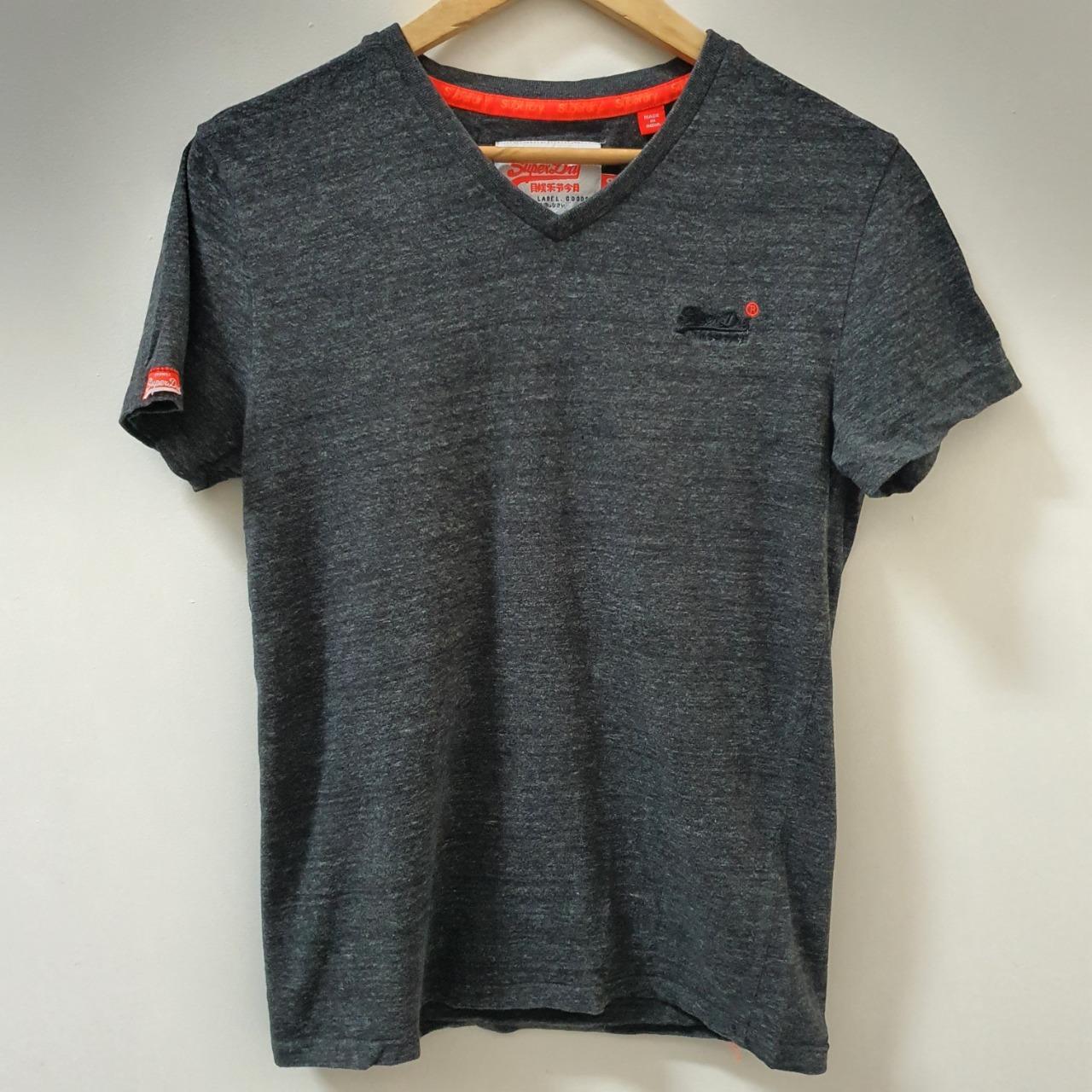 Men's 'Superdry' Black/Dark Grey T-Shirt - Size S