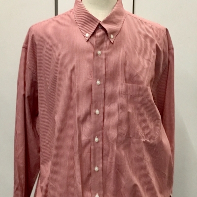 REDUCED Mens Big Size 2XB/2TG Long Sleeve Business Shirt Red & White