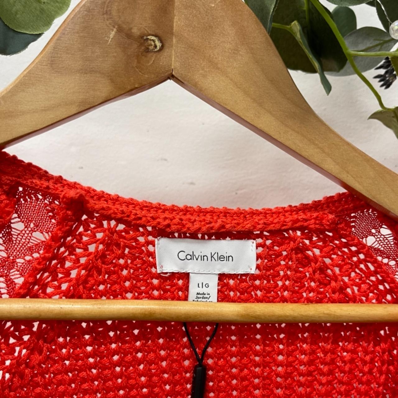Calvin Klein Womens  Size L Orange