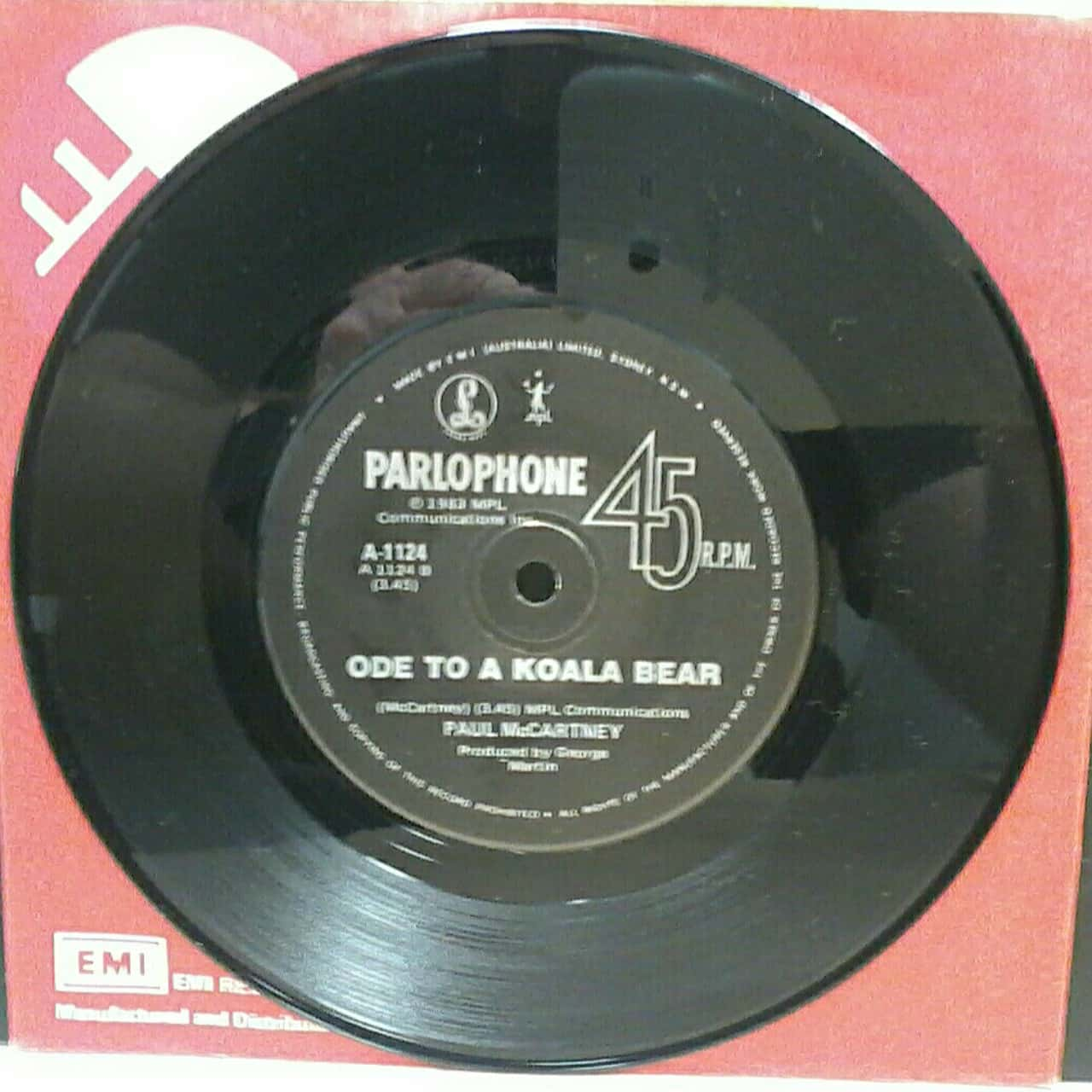"Vinyl 7"" Single Record by Paul McCartney & Michael Jackson - Say Say Say"