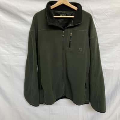 Jeep Mens Fleece Jacket  Size XXL Green/Black