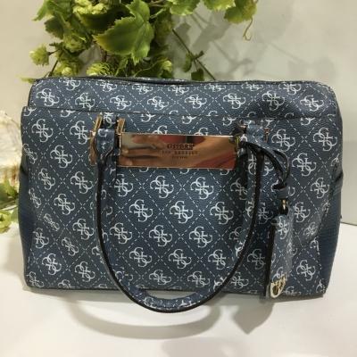 Guess Womens Satchel Hand Bag Blue
