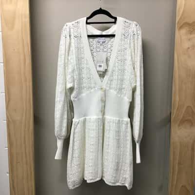 Sabo Skirt, Ivory crochet look dress, Size M - L, NWT, RRP $98