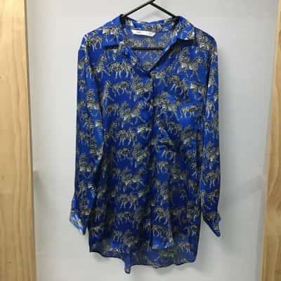Zara, Zebra print blouse, Size S