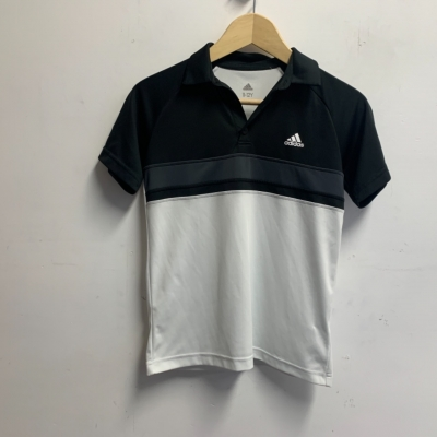 Adidas Boys Shirt Size 11/12 Black /White