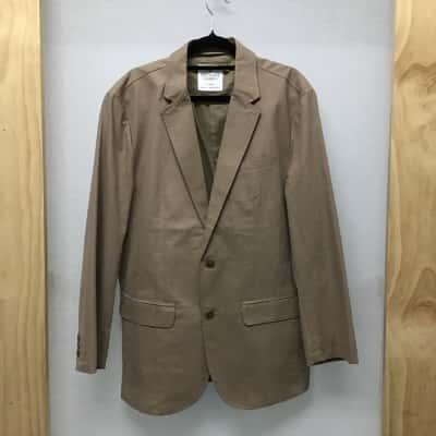 Southcape, Men's light brown cotton blazer, size L