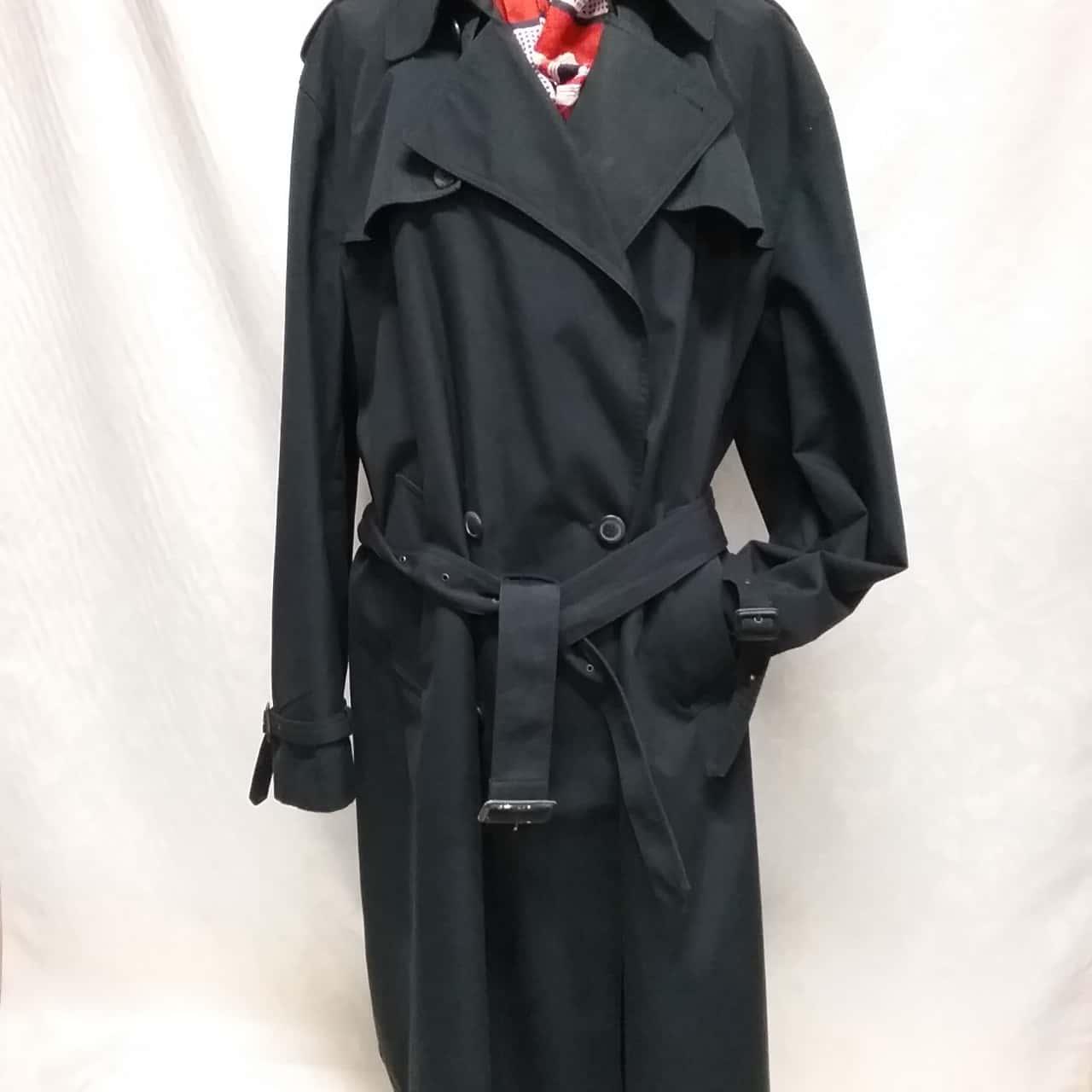 London Fog Mens Winter Coat Navy Blue 117R trench coat