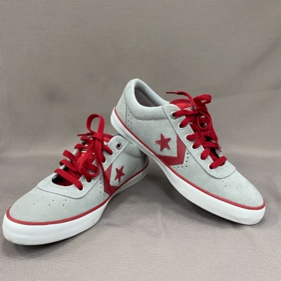 Converse Mens Grey/Red Sneakers Size US 7 Brand New
