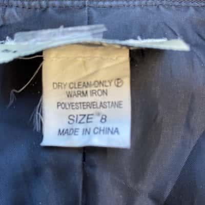 Suzannnegrae Womens 8 Black Long Jacket