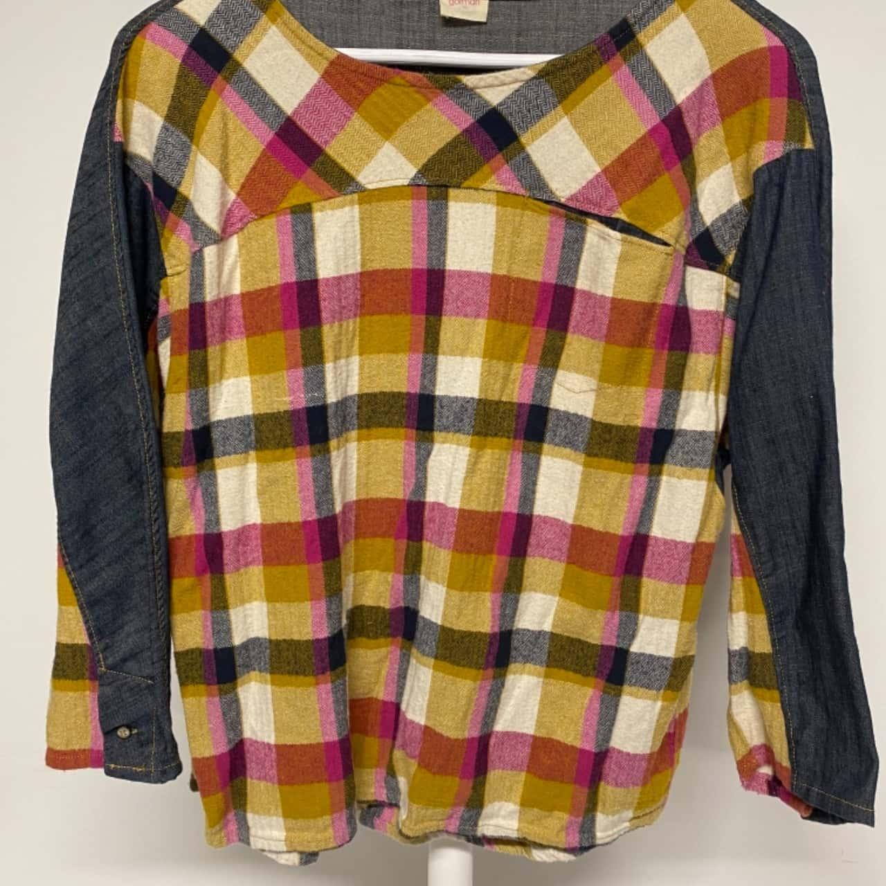 Gorman Womens  Size 10 Long Sleeve  Denim Multicoloured