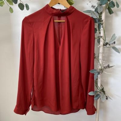Decjuba Womens  Size 12 Shirts & Blouses/Long Sleeve  Maroon