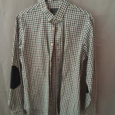 Zara Man Mens Green/White/Blue Check Shirt Size L UAN