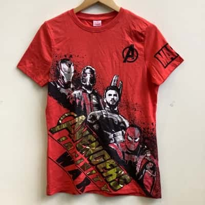 "Marvel Avengers Boys Size 13-14Yrs, ""Avengers Infinity War"" Red T-Shirt BNWT"