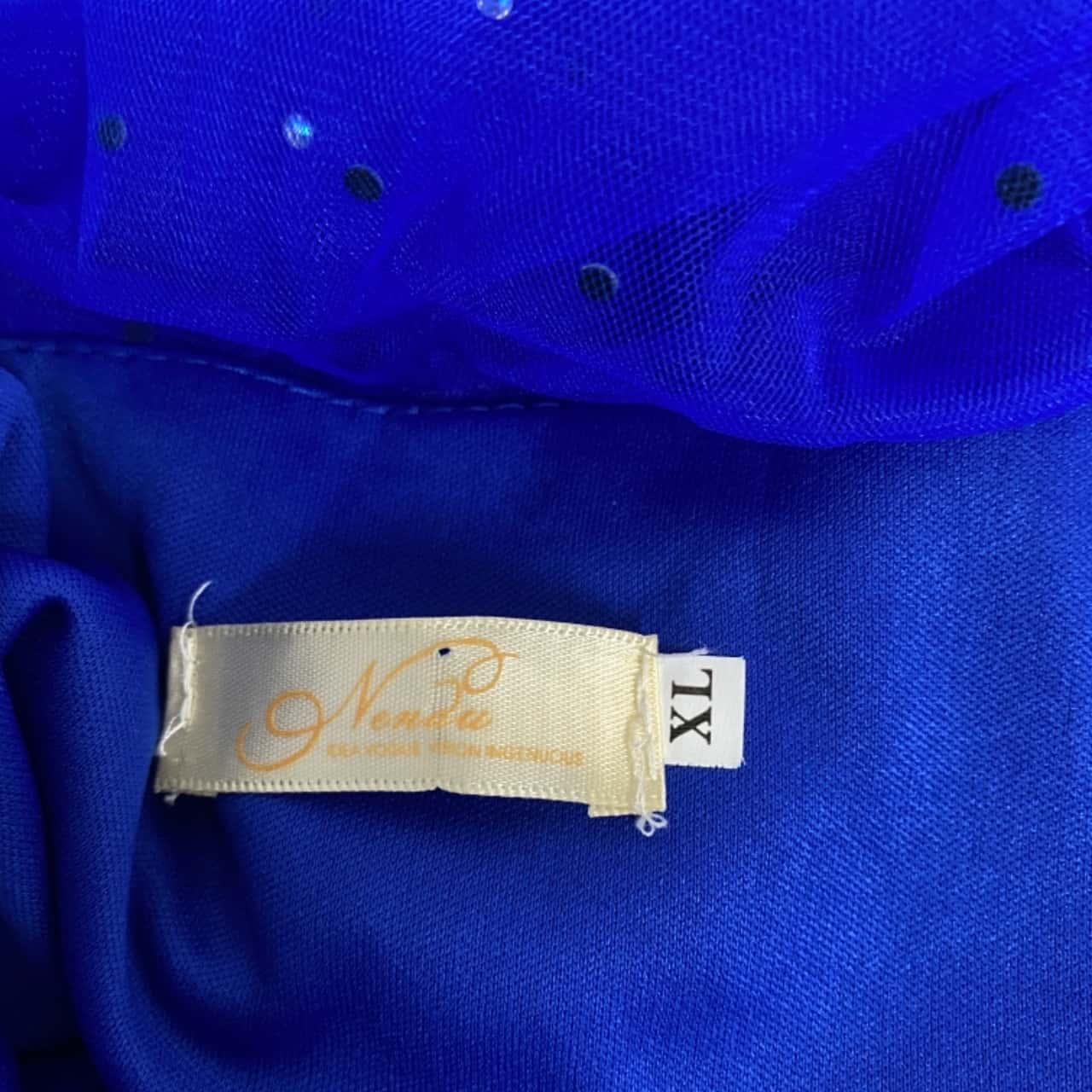 Womens  Size 10 Blue/Gold Dress 10