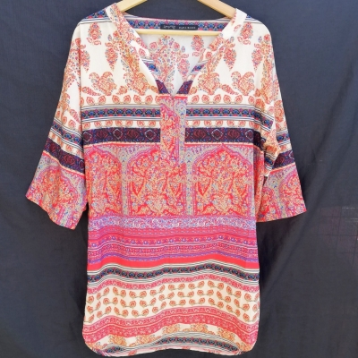 Zara Boho Kaftan  Dress Size L Multicoloured