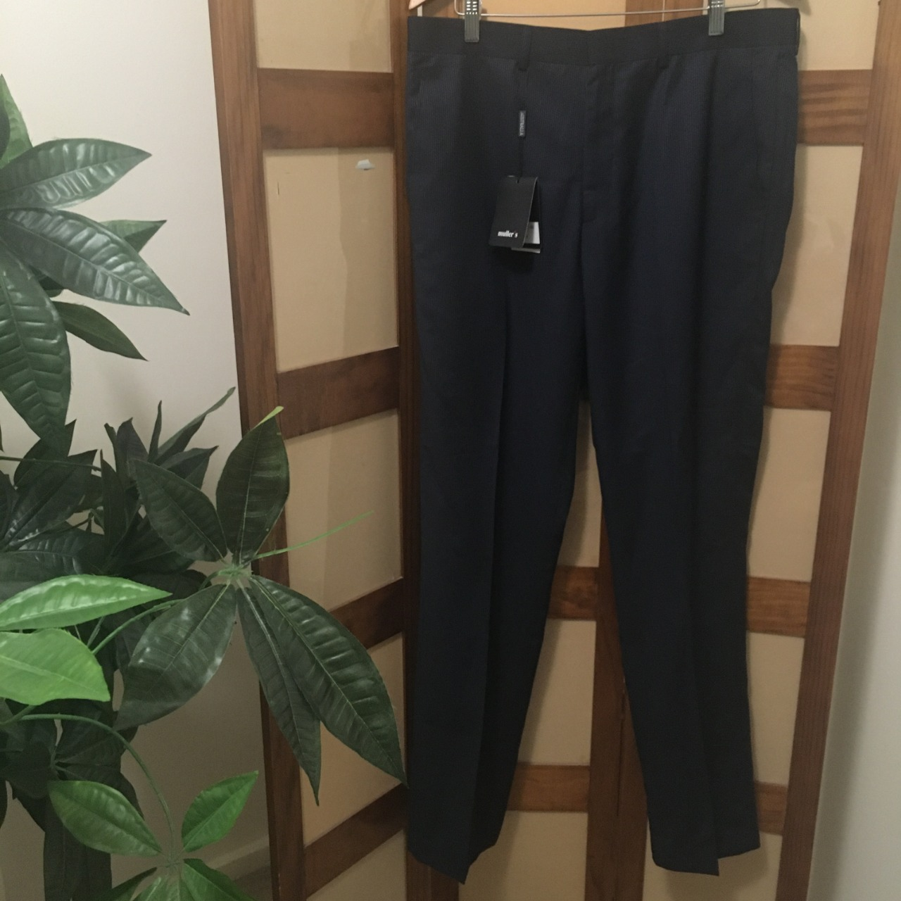Muller's Mens Navy Blue/Pinstripe Suit Pant Size 36/L Brand New