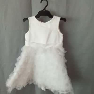 Origami Children's White Dress Size 2 UAN