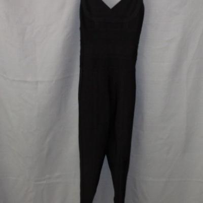 House Of London Ladies Black Jumpsuit with Skinny Leg & zip Detail Size S UAN