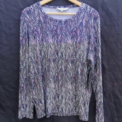 BLACK PEPPER Womens  Size 14 Long Sleeve  Multicoloured Top