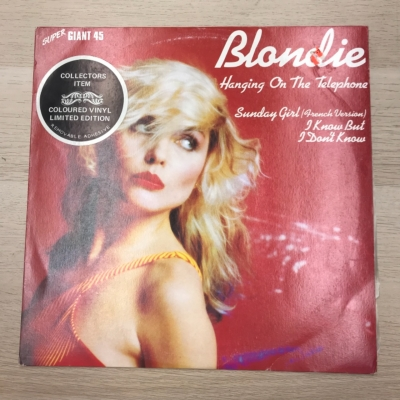 "Blondie Coloured Vinyl  - Hanging On The Telephone - Limited Edition Collectors Item -  Super Giant 45 - 12"" Single"
