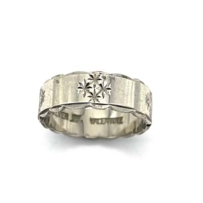 Womens Silver Valentine Ring - Size Q