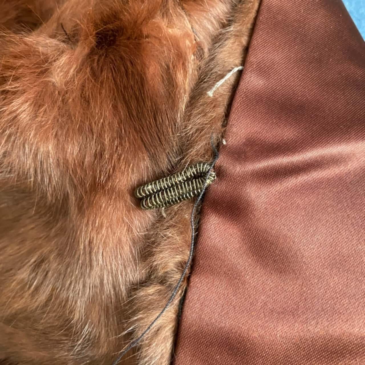 The Myer Emporium (S.A) Ltd. Adelaide Women's Vintage Fur Wrap Brown