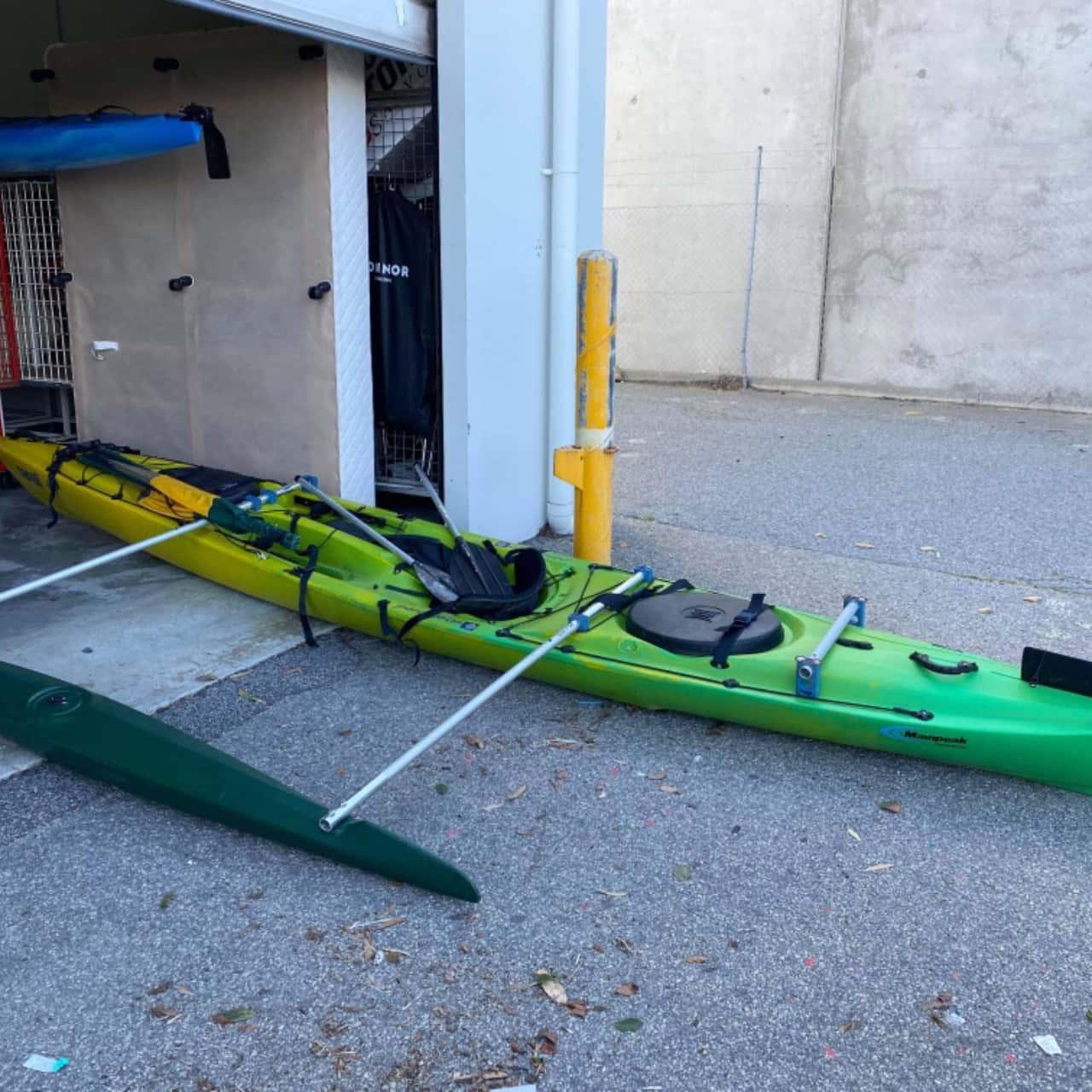 REDUCED Napali 470 Perception Kayak Green/Yellow