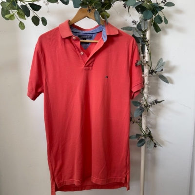 Tommy Hilfiger Mens  Size M Polos Pink