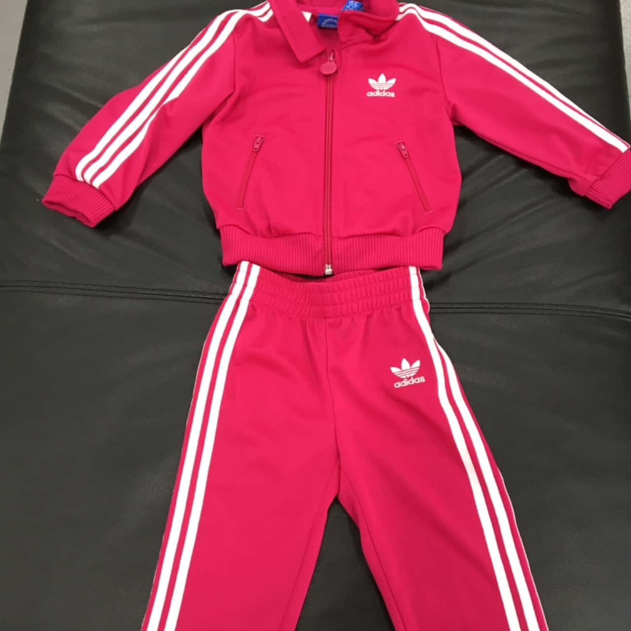Adidas Kids Pink  Track Suit 9-12 Mths