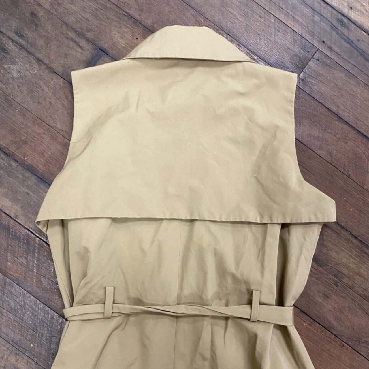 Cue Womens Size 14 Trench Coat Cream