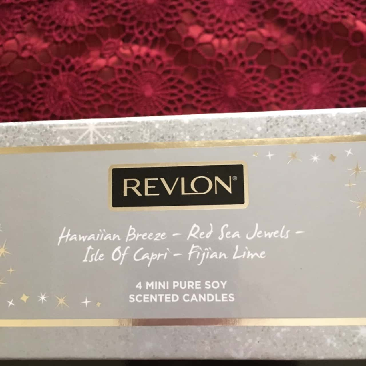 Revlon 4 Mini Pure Soy Scented Candles, Brand New