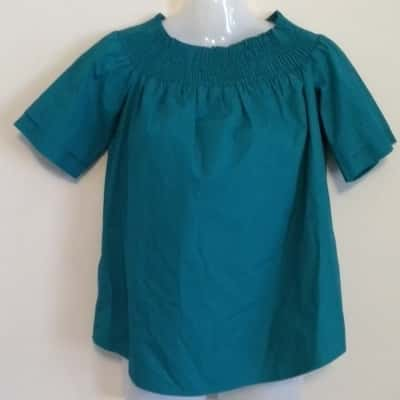 BNWT Womens  PIPER SHORT SLEEVE TOP Size 8  Green RRP $69.95