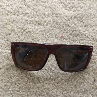Ray Ban Mens Brown Sunglasses, Made in Italy, TF050
