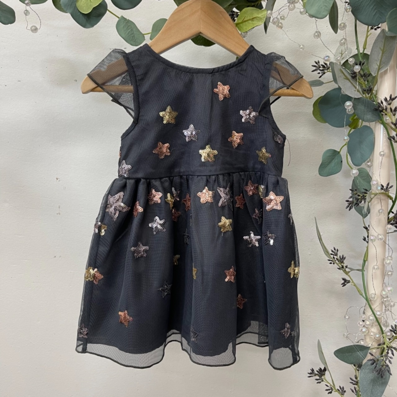 Origami Kids Dress Gold/Grey/Silver 0
