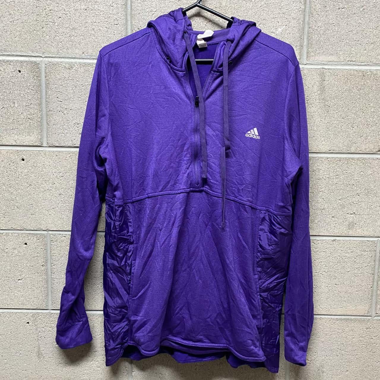 Adidas Climawarm Mens Hoodie Purple Size 2XL