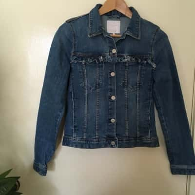 Trafaluc Zara Denim Wear Womens Blue Jacket Size EUR/US : M