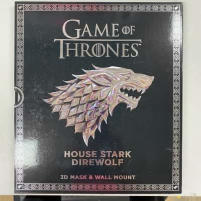 HBO 2017 Game of Thrones. 3D mask and wallmount. House Stark Direwolf