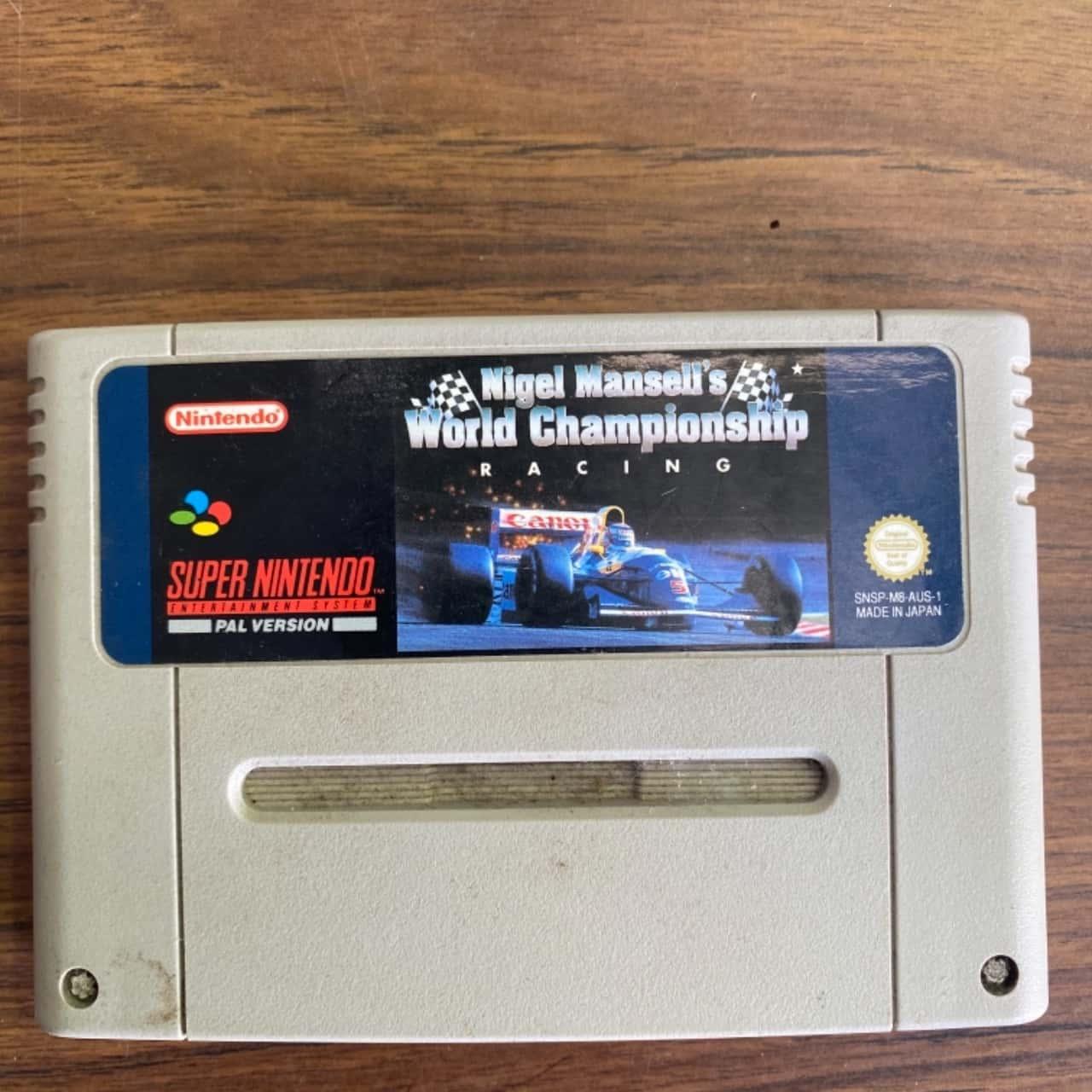 Super Nintendo Nigel Mansells World Championship Racing