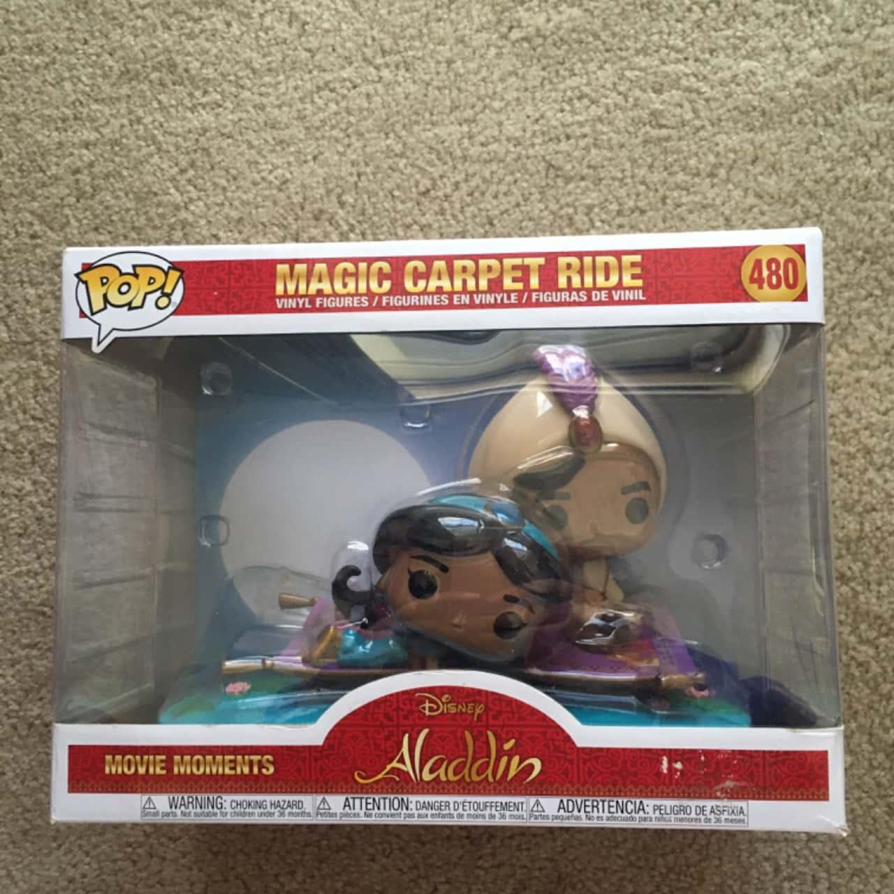 Disney Aladdin Magic Carpet Ride Movie Moments Pop! Figurines, Brand New