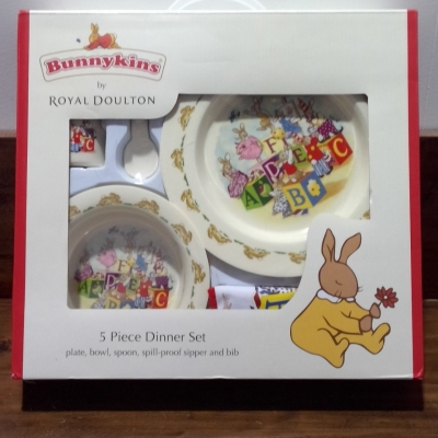 NEW BUNNYKINS  (ROYAL DOULTON) 5pce Dinner Set