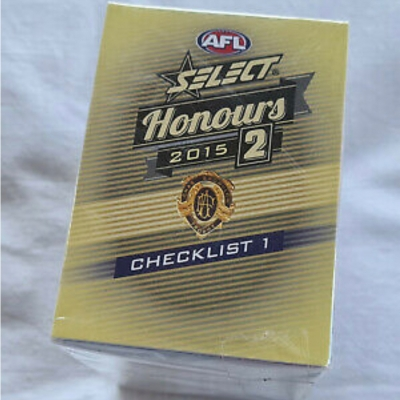 2015 Select Afl Honours 2 Full 220 Common Base Card Set Afl Football