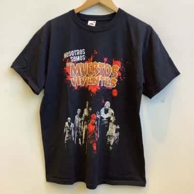 "Fruit Loom Mens Size L Black ""Los Muertos Viventes"" T-Shirt"