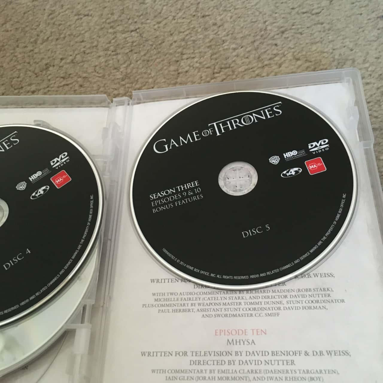 Game of Thrones DVD - The Complete Third Season, Region Code : 4