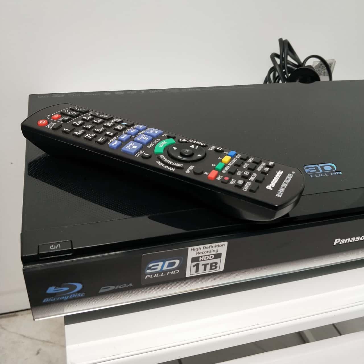 Panasonic Twin HD Digital Tuner Blu-Ray Recorder Player With 1TB Hard Drive
