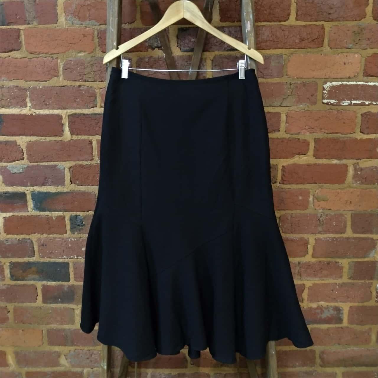 Laura Ashley Womens Size 10 Black Tailored Skirt