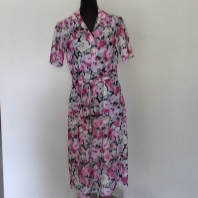 Womens VINTAGE MAYFAIR  Size 10 Floral Dress/Midi Dress Floral MADE IN AUSTRALIA