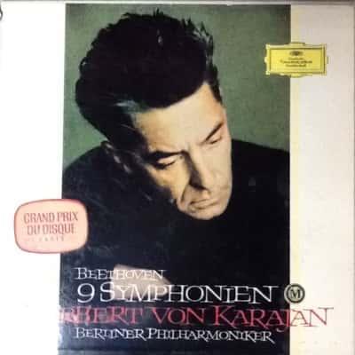 Herbert Von Karajan Beethoven 9 Symphonies 8 LP box set