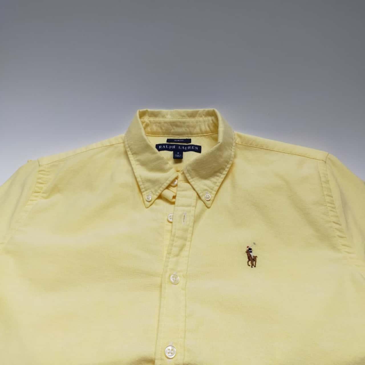 Polo Ralph Lauren Mens Size 8 Business Shirt Yellow