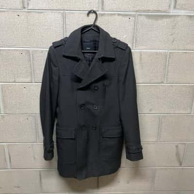 Calibre Mens Long Jacket Size M Black